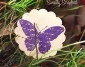 8 Royal Purple Butterfly Embellishments