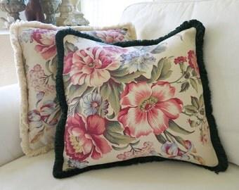 """16"""" Vintage Floral Pillow Cover"""