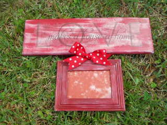 Picture Frame/Sign, Single, Burgundy, Decorative Sign Board
