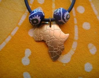 Little Brass Africa Pendant Tribal Bead Necklace