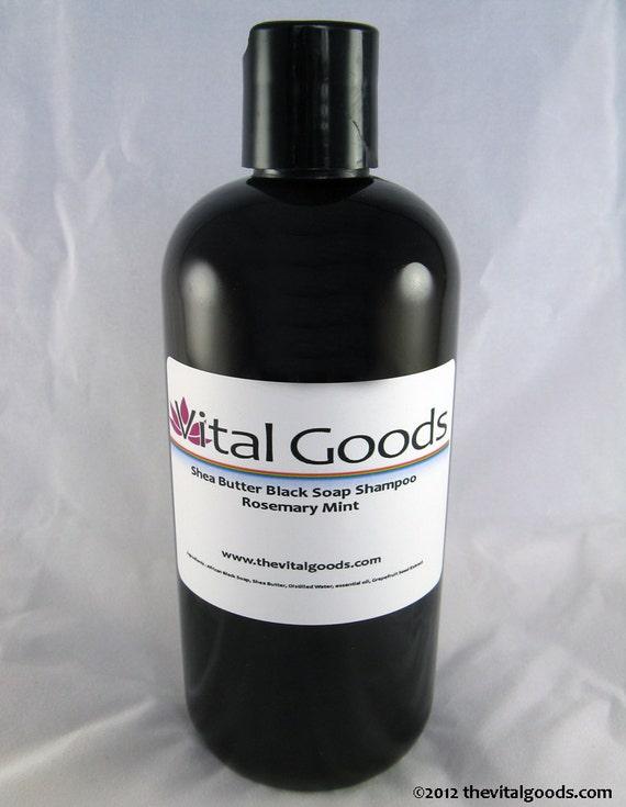 Dreadlock shampoo Rosemary & Mint Shea Butter Black Soap Shampoo 12oz