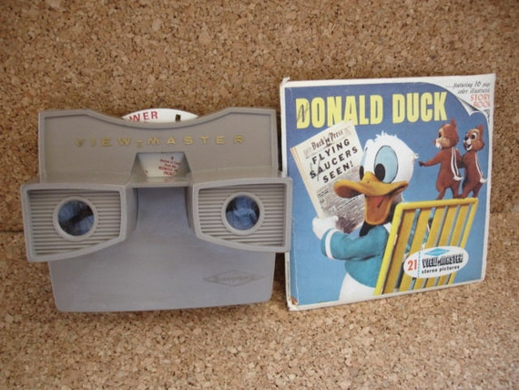 Vintage ViewMaster Viewer and Donald Duck Reels