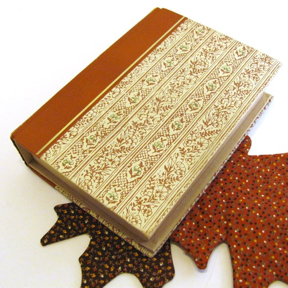 jewelry box secret stash book autumn colors