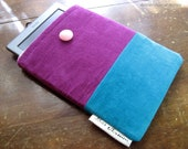 Kindle Sleeve / Kindle Cover / Kindle Case / Button / Padded / Colorblock