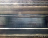 Motion Blur print // Linear, Geometric, Abstract Photography, Blur, Blue, Gray, Lines, Movement
