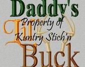 Daddy's Lil' Buck Machine Embroidery Design
