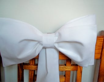 White or Ivory Pew Bows, Ceremony Decorations, Aisle Bows,  Set of 6, Wedding Decorations