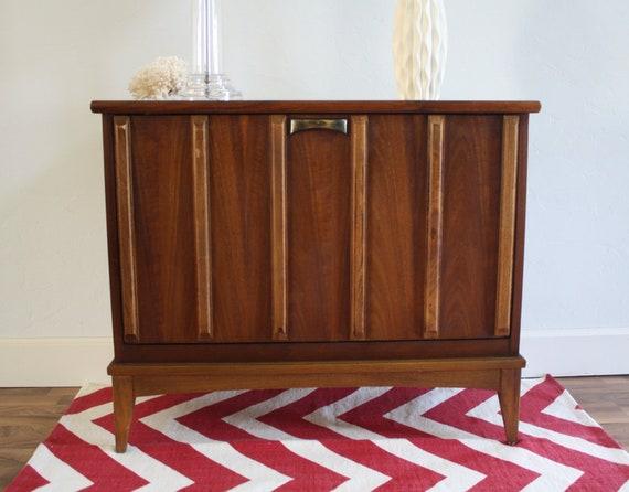 Mid Century Lane Record Cabinet, Vintage Modern