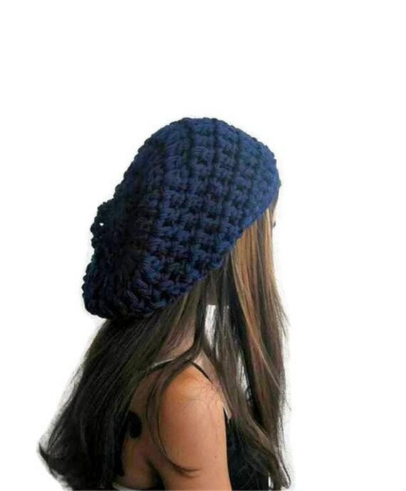 Prussian blue, Navy blue, Indigo, Denim, Dark midnight blue, Dark cerulean, Chunky Slouchy modern Hat,  Fit, Tam, Boho,Baggy Beanie