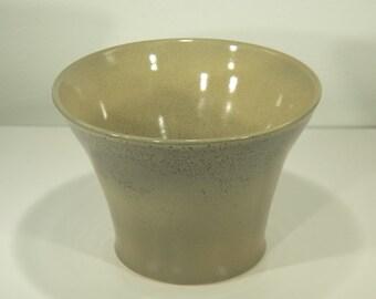 Elephant Skin Shino Glaze, Ceramic Bowl, Greenish Tan, Handmade, Decorative Vase, Home Decor, Pottery Wheel, Gift, MJS, 27