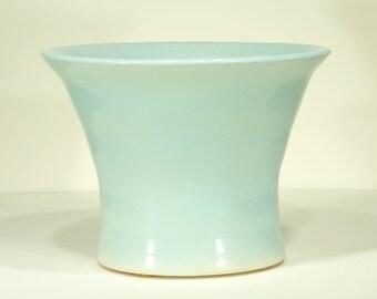 Ceramic Vase, Sapporo Blue, Glossy Glaze, Ornamental Vessel, Light Cyan Pot, 108