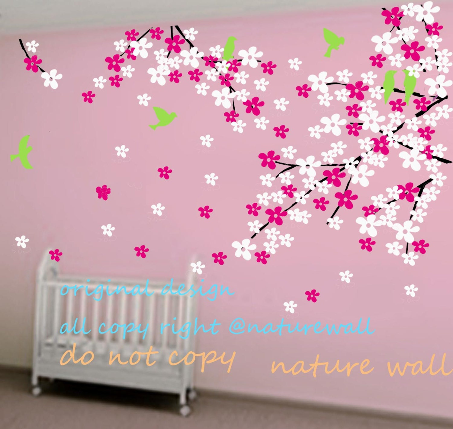 Cherry blossom wall decal etsy