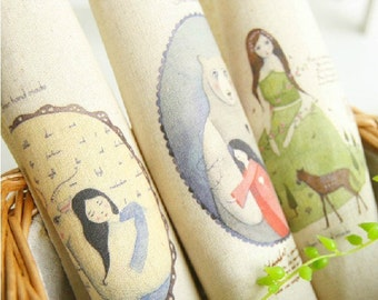 Cotton Linen Fabric Cloth -DIY Cloth Art Manual Cloth -Printing Dyeing Linen Fabric Cotton  8x 8 Inches (20cm X 20cm)
