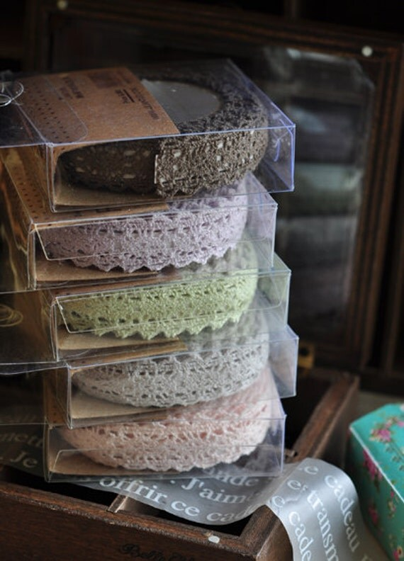 Rural wind only beautiful multi-function adornment Masking Lace Tape 5 Rolls