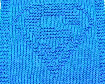Large Knitting Cloth Pattern - SUPER HERO - PDF