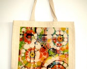 Washed Away Cotton Tote Bag