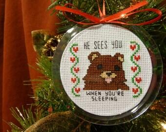 Pedobear Ornament - Instant Pattern