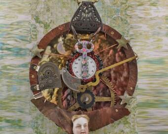 Steampunk Admirals Pectoral Wearable art sculpture