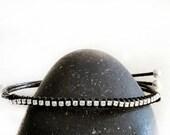 Bracelet - Rhinestone Wrap Friendship Black Bracelet