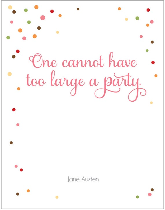 Too Large a Party - Austen - Print