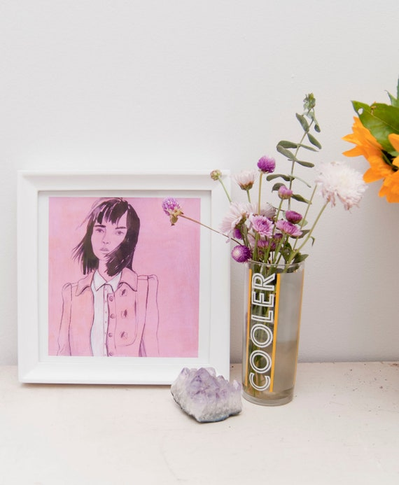 Pink Girl Print