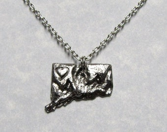Love State Connecticut Charm Pendant