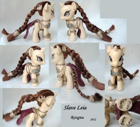 Custom My Little Pony Slave Leia Star Wars unicorn