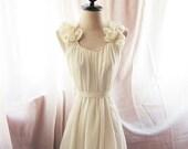 French Nude Butterfly Petal Jane Austen Alice in Wonderland Nostalgia Dreamy Mille Feuille Marie Antoinette Breakfast at Tiffanys Dress