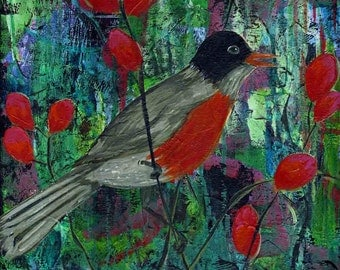 Sing You to Me print of mixed media acrylic painting