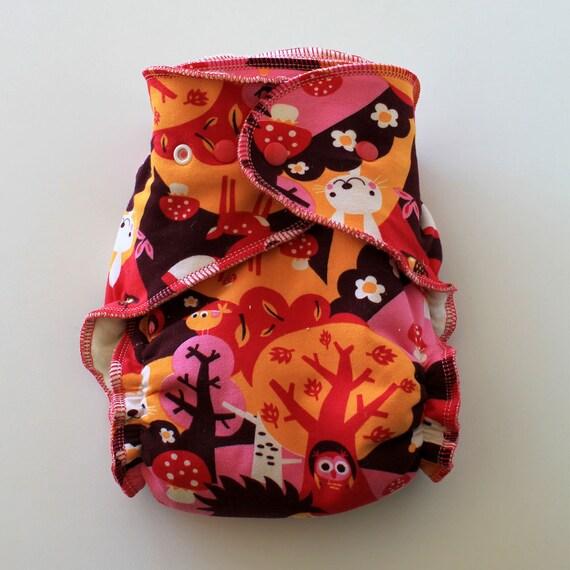 LAST one sale Organic OS Fitted diaper cloth diaper hemp diaper