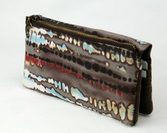 Women Wallet - Abstract (Womens Wallet, iPhone Wallet Case, Clutch Wallet, Fabric, Coin)