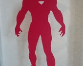 Ironman Silhouette Avengers Papercut 4X7.5 RED