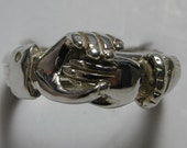 Three Band Sterling Silver or Gold Ladies Claddagh Puzzle Ring