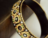 Vintage Ethic Bracelet - Black & Gold Bangle