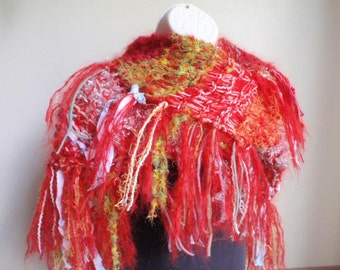 You Belong with Me Shawl Red Rainbow Free Shipping in the USA