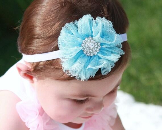 Shabby Headband - Baby Headband - Toddler Headband