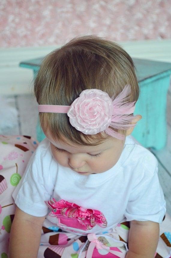 Feather Headband  - Baby Headband- Toddler Headband