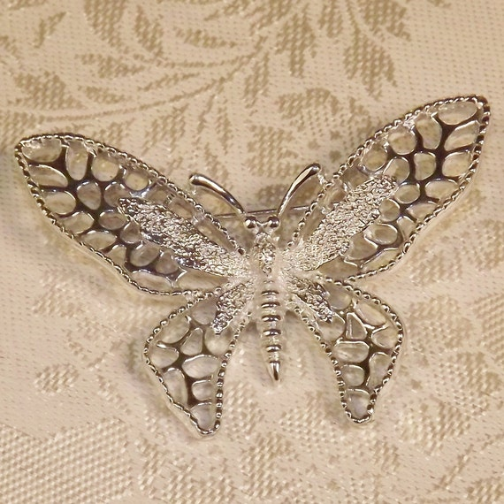 Vintage 1970s Brooch Sarah Coventry Madame Butterfly 1971