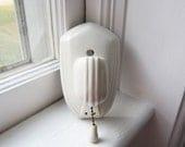 Vintage Paulding Porcelain Wall Light Sconce with Outlet