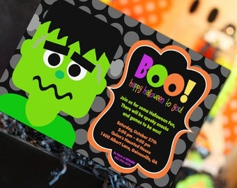Halloween Invitation | Halloween Party Invitation | Frankenstein | Halloween Birthday Party | Halloween Decoration | Amanda's Parties To Go
