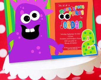 Monster Birthday Invitation | Monster Party | Monster Bash Invitation | Monster Invite | Little Monster Invitation | Amanda's Parties To Go