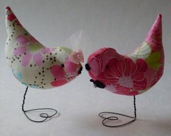 Wedding Cake Topper  Retro Neon Pr.  Love Birds Decorations