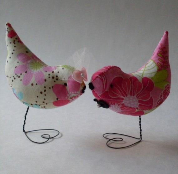 Etsy Wedding Cake Decorations : Wedding Cake Topper Retro Neon Pr. Love Birds Decorations