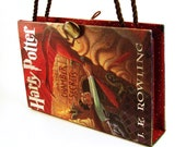 """Book Purse made from Harry Potter """"Chamber of Secrets"""" with """"Shoulder Strap"""""""
