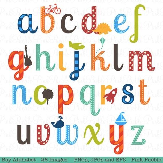 boy alphabet letters scrapbooking alphabet clipart clip art rh etsy com alphabet letters clipart alphabet clip art letters