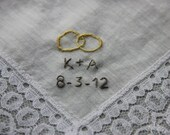RESERVED LISTING Custom Embroidered Handkerchief