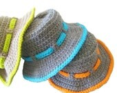 Crochet Sun Hat Pattern for Boys, Pdf pattern, Boy's Sun Hat, Newborn to 10 Years,