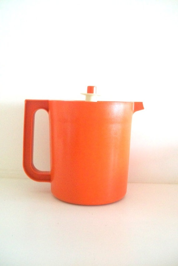 Little Shorty - Retro Orange Tupperware Pitcher