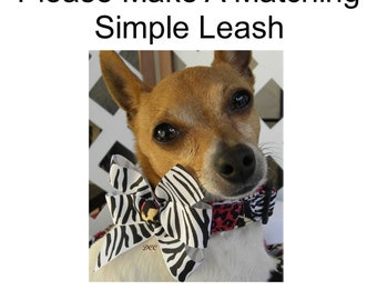 """Dog Leash Simple MATCHING LEASH Custom Handmade Leash 3/4"""" or 1"""" in Wide 3, 4, 5 or  6 Feet long -You pick the fabric with / without webbing"""