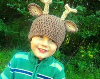 Deer Hat- buck horns antlers whitetail hunting- sizes 2T and up